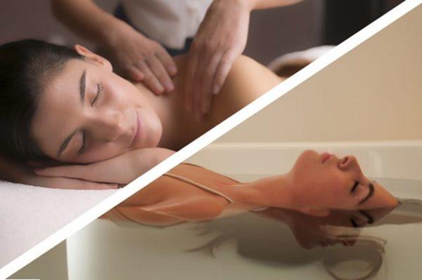flutuação e massagem de relaxamento spa