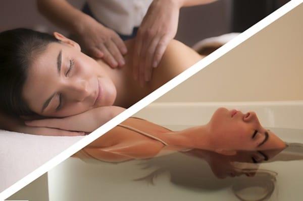 Flutuação e Massagem Especial de Relaxamento